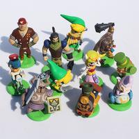 Free shipping--The Legend Of Zelda Spirit Tracks Mini Figures Set Of 11 Brand New Japan version