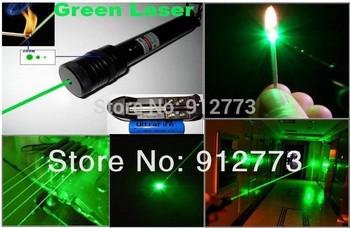 laser pointers 200mw 500mw 1000mw 532nm green lasers waterproof burn match/Punctured,burn cigarettes,pop balloon+changer+box