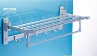 Free shipping folding wall shelf metal shelving Aluminum shower caddy rack bathroom shelf  home storage hotel accessories