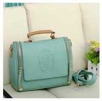2014 New women handbag women messenger bag leather handbag vintage shoulder  cross-body bags free shipping