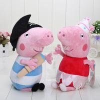 2pcs/set  height 30 cm Ballerina Peppa pig &peppa George pig Pirates george in large size
