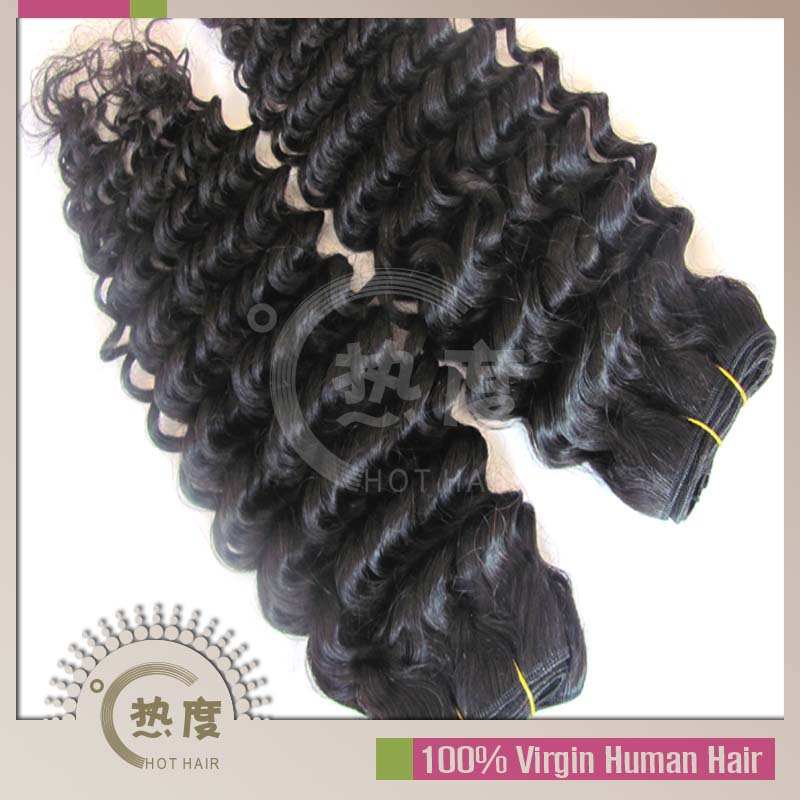 Mix length,100% unprocessed brazilian virgin hair deep wave 4pcs lot,more than 5000 pcs in stock(China (Mainland))