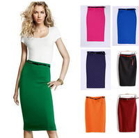 7 Candy Colors 2013 High elastic cultivate pencil fashion skirts womens pencil with Gfit belt