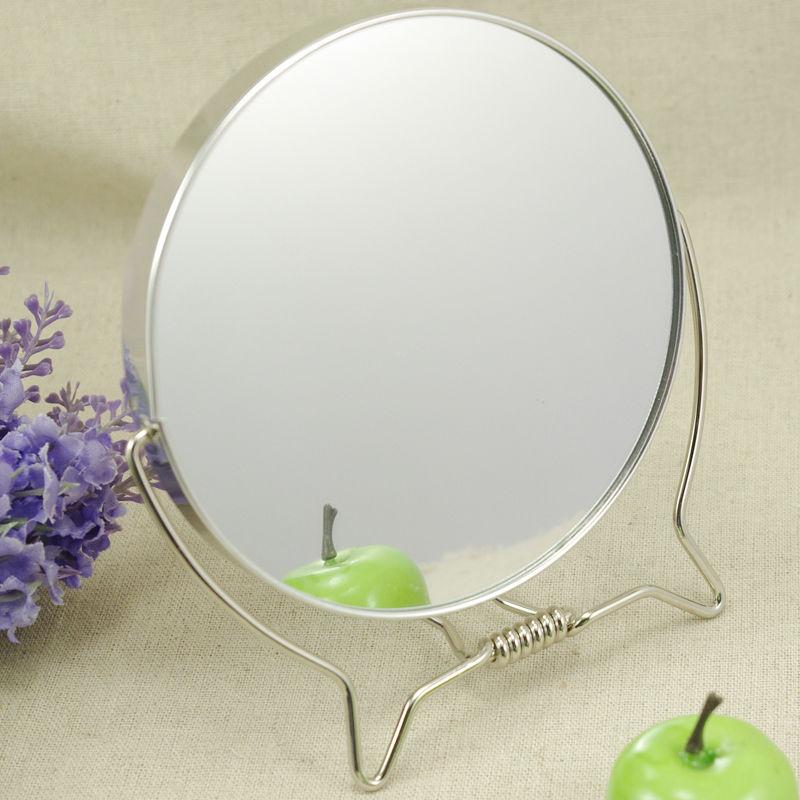 Spinning 360 degree desktop double faced 2 makeup mirror cosmetic mirror table mirror desktop mirror(China (Mainland))