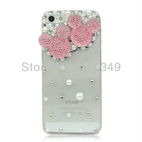 New Hot Fashion Mickey head phone case cover for iphone5 case diamond cell phone protection shell