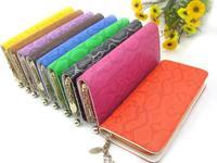 Women's long design wallet single zipper Women wallets multi card holder large capacity purse fashion portable  D-302