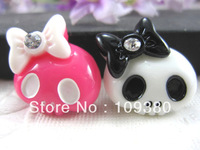 new arrival ,30pcs/lot,DIY Flatback  cute resin skull for DIY phone decoraction