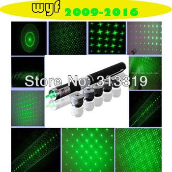 Free shipping long-range 1000 meters 5 in 1  500mw green light laser pointer pens, green laser command pen