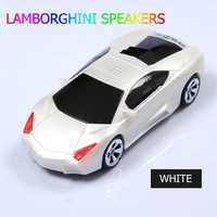 30pcs/lot  subwoofer Lamborghini lp700 speaker mini car speaker for phone audio insert card speaker  FM function DHL