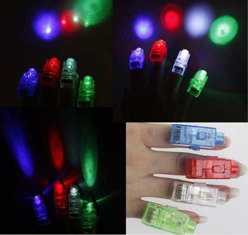 50pcs Mix LED Party Laser Finger Light Beam Torch Ring Kids Toy Safe plaything