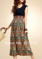 2013 spring summer women's o-neck sleeveless tank dress new the sarafan for lady Free shipping