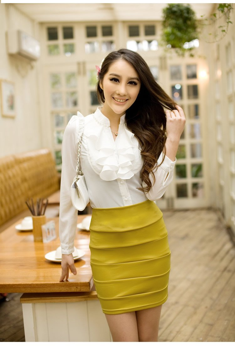 women Long Sleeve Blouse ladies casual dress shirt 2013 summer new style wholesales(China (Mainland))