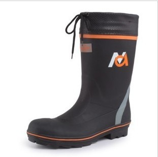 Fashion Men knee-high steel toe cap covering liner sweat absorbing cloth safety shoes rain boots rainboots water shoes rain(China (Mainland))
