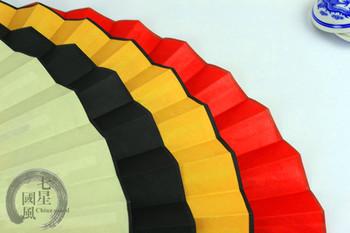 [7 stars] Free shipping Nice raw silk hand fan folding fan best wedding favor & Businesee gift for Wholesale