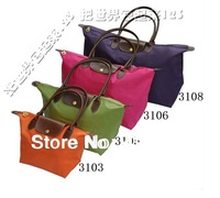 2014 Designer Fashion women Collapsible Nylon Cosmetic handbag women bags Free shipping