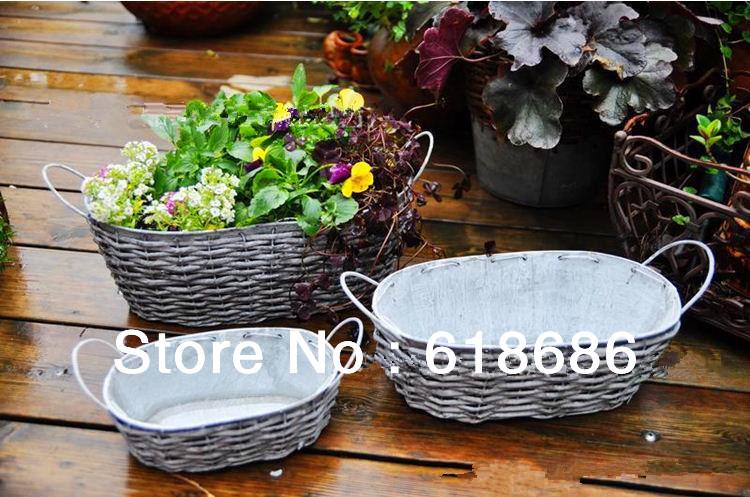 Online kopen wholesale rotan bloempot uit china rotan bloempot groothandel - Eigentijdse patio meubels ...