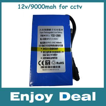 NEW DC 12V 9000mAh High Volume Lithium Battery Pack Capacity Smart CCTV Camera Power YSD-12900