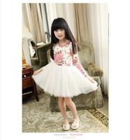 Free Shipping Small Flowers ChiffonThin Fashion  Priness Dress for 5 pcs/lot
