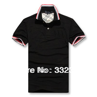 2013 Free Shipping New Men'sTop Brand Embroidery T shirts Mens Casual Stylish Short Sleeve Cotton T-Shirts 8colour M--XXL