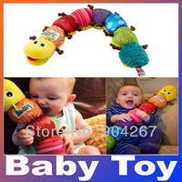 Popular Colorful Musical Inchworm Soft Lovely Developmental Educational Plush Baby Toy