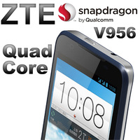 Original ZTE Android phone WCDMA V956 Qualcomm Snapdragon MSM8225Q Quad Core 1.2GHz+5mp+0.3mp Camera+512M RAM+4G storage space
