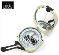 Geological compass professional  silver  Harbin level measurement Pointing to navigation Pointer Pocket theodolite