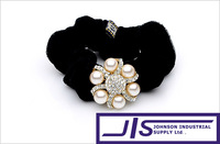 Transparent Crystal and White Pearl Flower Hairbands, Hair Ornaments,Hair Accessories,0672,Free Shipping