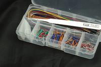 140pcs U Shape Solderless Breadboard Jumper Cable+8pcs cable + 1pcs Forceps  Kits For Arduino Shield raspberry pi kit