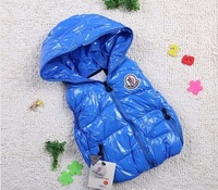 Retail: Baby boy vest,waistcoat,baby winter coat 3 colors for vest cap,Boys & down vest,1pcs/lot,Free Shipping
