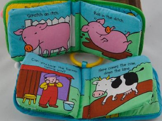 2pcs/lot Animal pig Cow Game  Plush cloth Doll Books, Decoration Car Home Baby Early Education Toys Gilrs Boys Gift