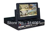 free shipping 4ch /8ch H.264 CCTV DVR all-in-one 7 inch LCD DVR / Network DVR /cctv dvr