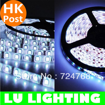 New Cool White/RGB 5M Super Bright SMD 5050 Waterproof DC 12V LED Flexible Strip 300 LEDs Outdoor Ribbon Free HK Post