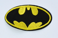 BATMAN BAT SIGNAL LOGO SYMBOL EMBROIDERED COSTUME BADGE IRON ON MOVIE PATCH USA