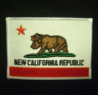 NEW CALIFORNIA REPUBLIC FLAG COSPLAY FALLOUT EMBROIDERED IRON ON PATCH MADE USA