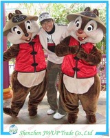 Newest Chippy The Chipmunk Mascot Costume Cartoon costumes For Party Free Shipping