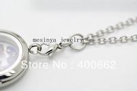 Stainless steel  3.0mm width 18''+2'' prolong  flat rolo chain  for dangle charm floating glass locket  keepsake,no locket