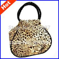 2014 Hot Sale Gold Leopard Women's Handbag Promotion Satin Print Purse Handbag 20cm X 18ccm Free Shipping BB00