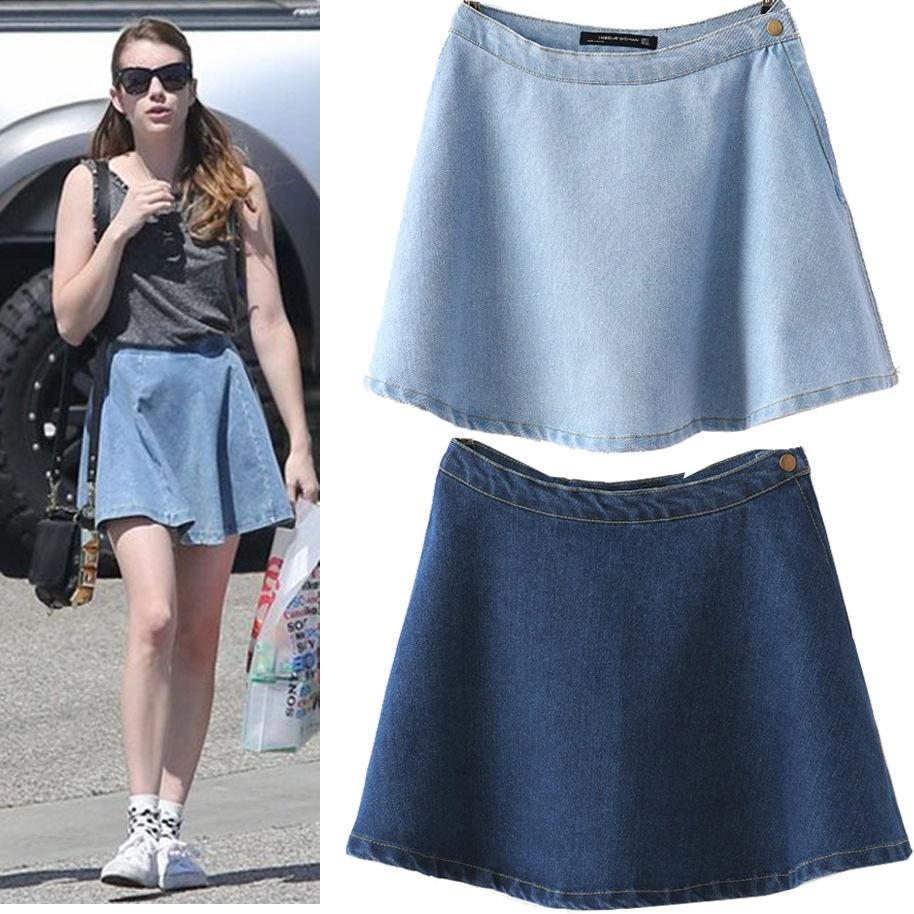 2014 brand s high waist denim skirt europe and
