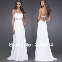 New Long White Womens Evening Party  Formal Dress Prom Gown