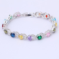 Green Crystal & AAA Zircon 18K k Gold Plated Bracelets Health Nickel & Lead free Fashion jewelry TB069