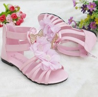 Free Shipping 2014 Fashion New Kids Shoes Girl Sandals Summer Shoes For Girl Kids Shoes For Girl Princess 3Colors Size 31-36