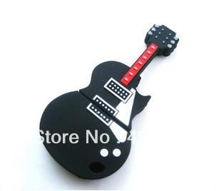 Free shipping Guitar USB 8GB Flash Memory Stick Pen Drive Disk for Laptop Computer + exquisite gift(China (Mainland))