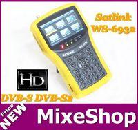 FreeShipping Satlink WS-6932  HD ws 6932 Satellite Finder Meter Spectrum Analyzer For DVB-S/S2 MPEG4