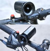 Wholesale 6 Sounds Ultra-loud Speaker Bicycle Electronic Bell Bike Horn Alarm Black Electronic bike bell