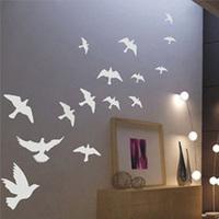 Free Shipping Flying Pigeon Bird Living Room Bedroom Decor Mural Art Vinyl Wall Sticker Home Window Decoration Decal  W064