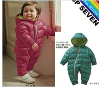 In stock ! 2012 Retail fashion baby romper for winter cotton padded one piece children kids jumpsuit 6m-2yrs 2colors #R-107, CF