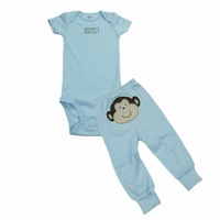 ON SALE Baby Inside Wear Infant Clothing Carters 100% Cotton Close-Fitting Wear  2 Pieces Creeper Set