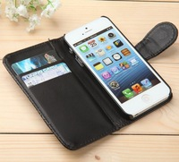 Luxury Flip PU leather case with card holder hybrid wallet cover for iPhone 4 4S,mobile phone bags cases covers for iphone5 5 5s