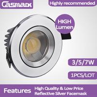 Free shipping(1pcs/lot) Hot Sale ! 3w 5w 7w COB led ceiling spotlight  recessed mounted led cob  spotlight  3w 5w 7w cob