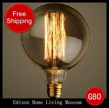 1991 Drop Art light bulb,decorative lamp,retro E27/E26 G80 screw bulb,retro Edison lamp,FREE SHIPPING(China (Mainland))